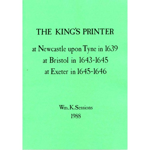 4. KING'S PRINTER VOL. I